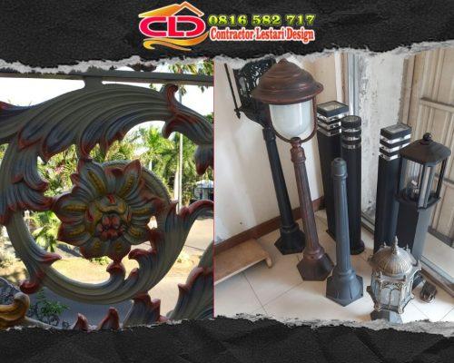 distributor lampu taman, ornamen alumunium