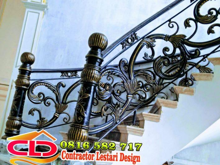 railing besi tempa,railing mewah jakarta,jenis railing klasik,contoh railing klasik