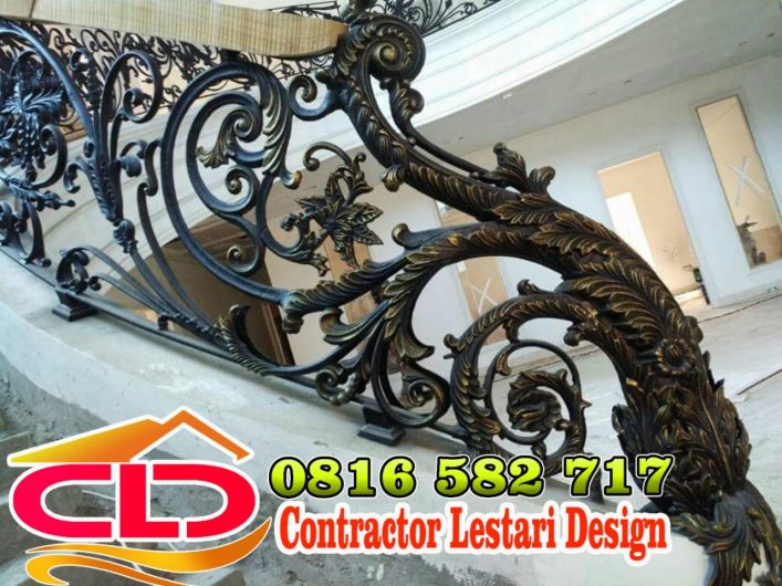 railing besi tempa,railing mewah,railing tangga,railing rumah klasik