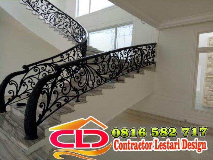 railing tangga mewah, railing klasik,railing moderen klasik,railing tangga