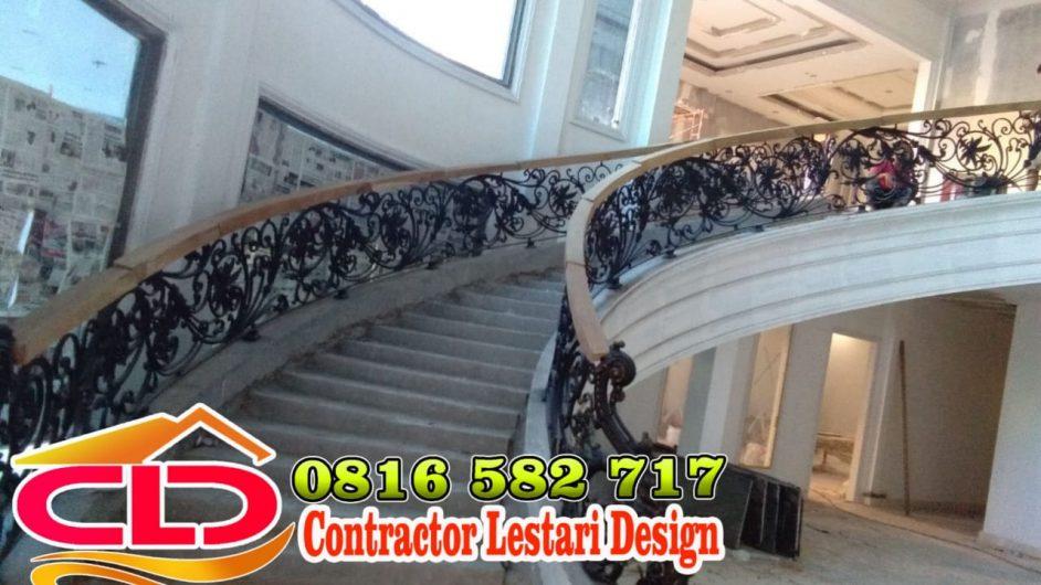 railing tangga,railing tangga klasik,railing rumah mewah