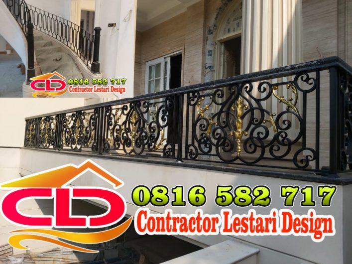 spesialis balkon,balkon railing rumah mewah jakarta,balkon mewah