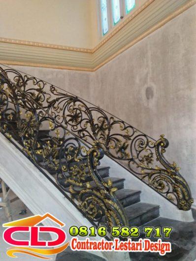 railing tangga layang klasik, railing tangga layang mewah,railing klasik