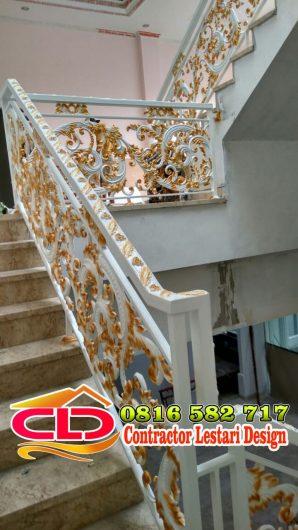 railing tangga tempa klasik, railingtangga mewah, railing tangga modern