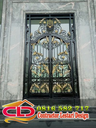 teralis pintu,teralis pintu hed kuningan,teralis pagar kuningan,teralis balkon kuningan