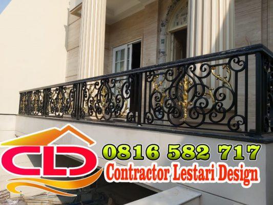railing balkon klasik, railing tangga rumah klasik,pagar klasik