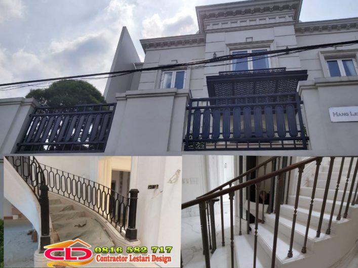 railing klasik modern, railing tangga klasik, railing tangga klasik modern