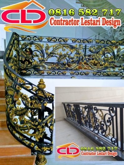 railing tangga klasik, railing tangga klasik modern