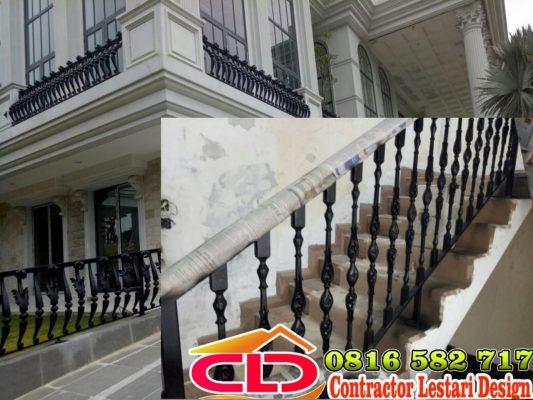 railing tangga mewah,railing tangga klasik,railing tempa mewah