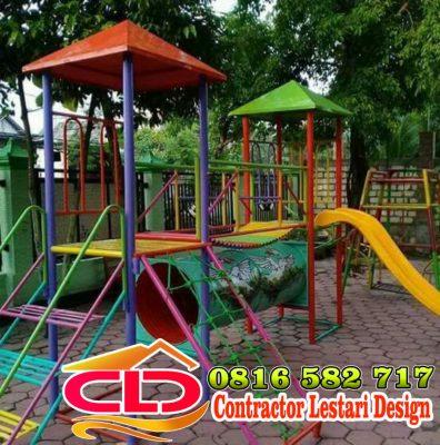 produksi playground Bandung, jasa pembuatan playground taman, spesialis playground taman