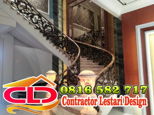 railing tangga, railing besi tempa,railing mewah