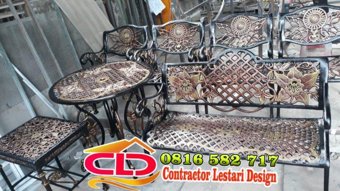 produsen kursi besi tempah di medan, jual kursi taman medan