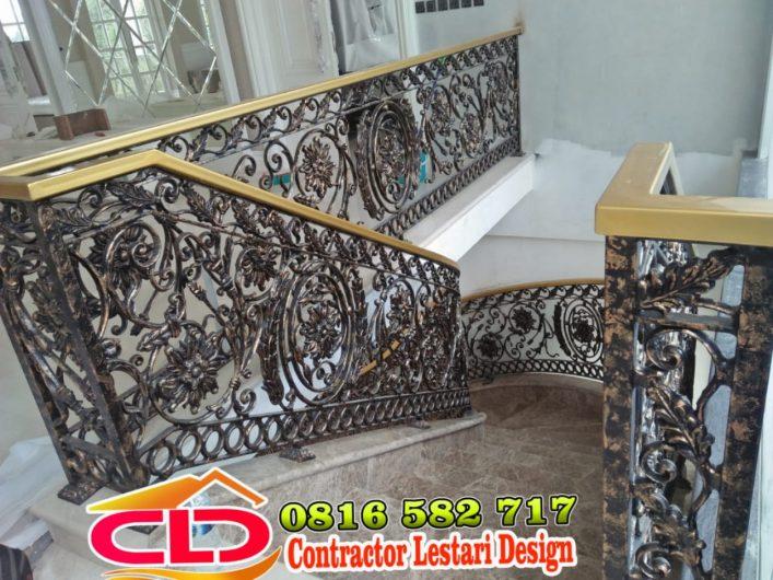 railing klasik,railing mewah,railing tangga besi tempa